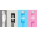 Дата кабель REMAX RM-000215 Breathe with LED MicroUSB (Blue)