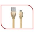 Дата кабель REMAX RM 249 Laser для iPhone 5/6/7 (gold)