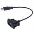 Кабель USB разъем в штатную заглушку для Toyota