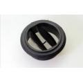 Дефлектор на воздуховод Ø90 черный, закрывающийся, с проходом перегородки (1320355)