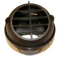 Дефлектор на воздуховод Ø60 крутящийся, с втулкой, круглая накладка (1322405)