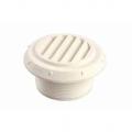 Дефлектор на воздуховод Ø60  белый, с ламелями 45*с проходом перегородки (1320205)