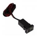 Кабель USB разъем в штатную заглушку для Toyota NEW с зарядкой